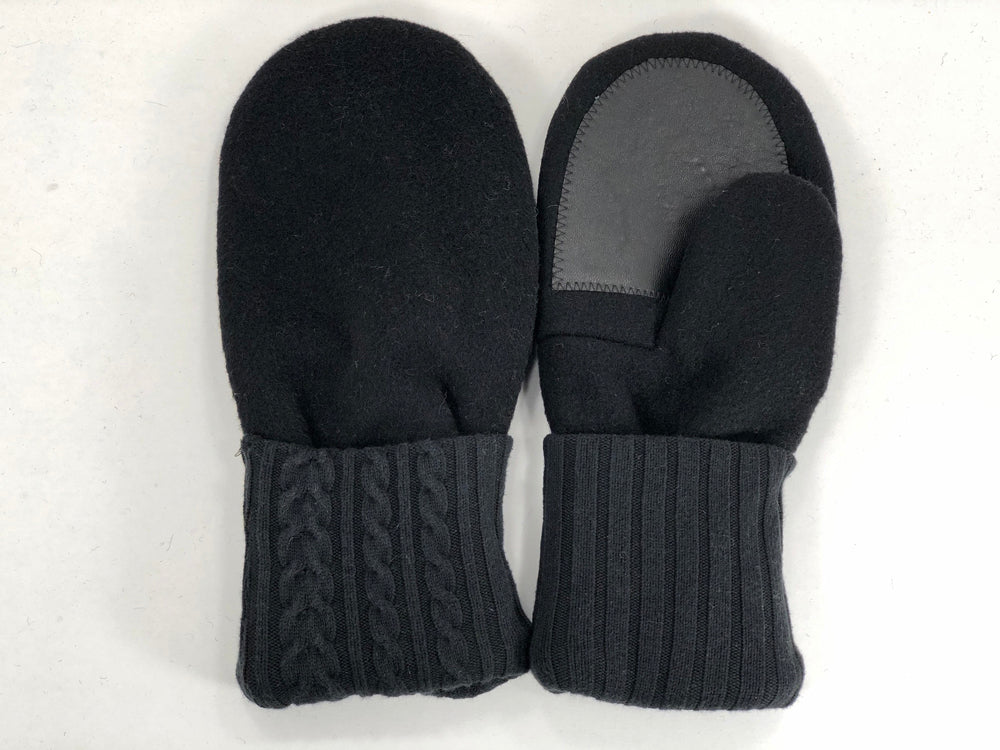 Black Men's Wool Driver's Mittens - Large - 1970 - The Mitten Company