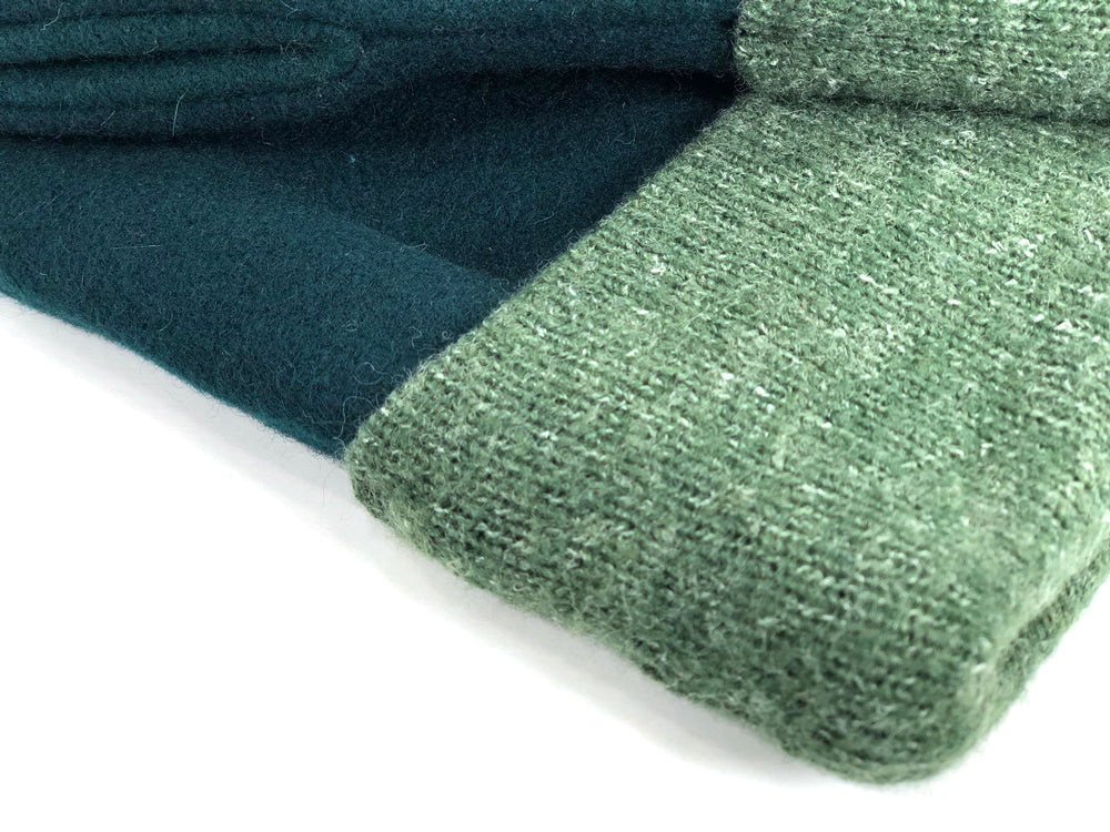 Green Men's Wool Driver's Mittens - Large - 1972