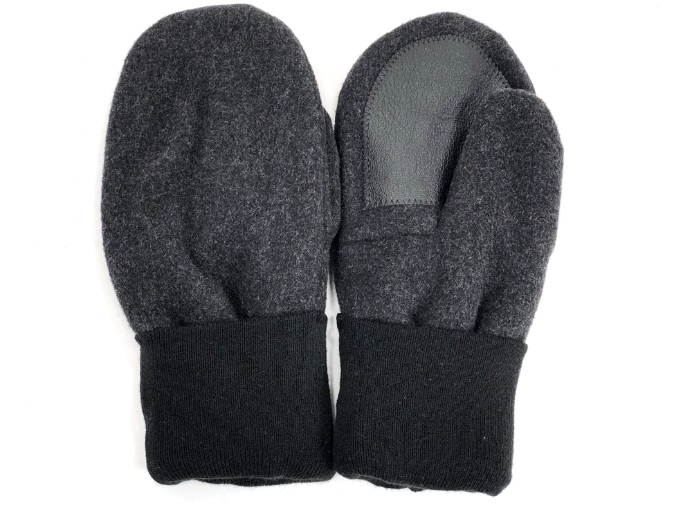 Gray-Black Men's Wool Driver's Mittens - Large - 1976