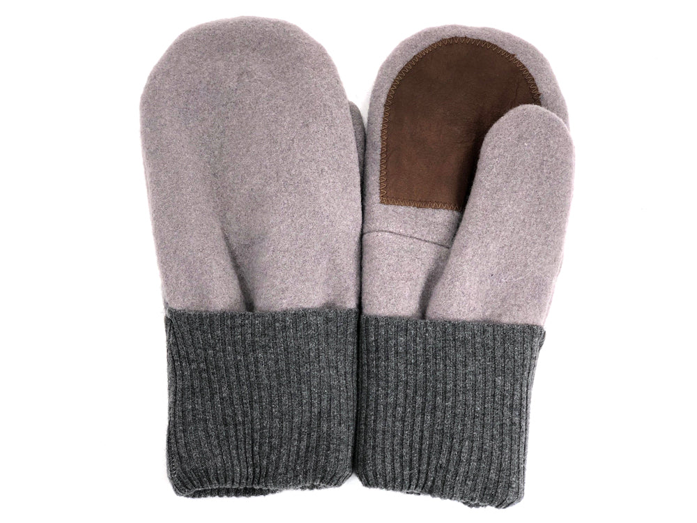 Gray-Purple Men's Wool Driver's Mittens - Large - 1979