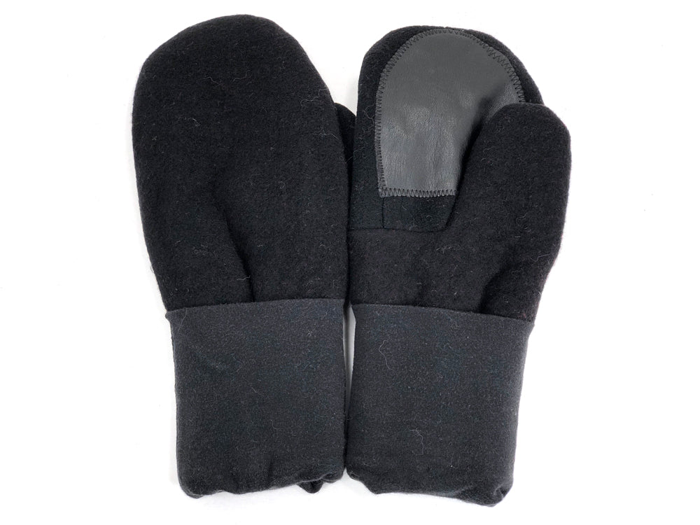 Black Men's Wool Driver's Mittens - Large - 1981-Mens-The Mitten Company
