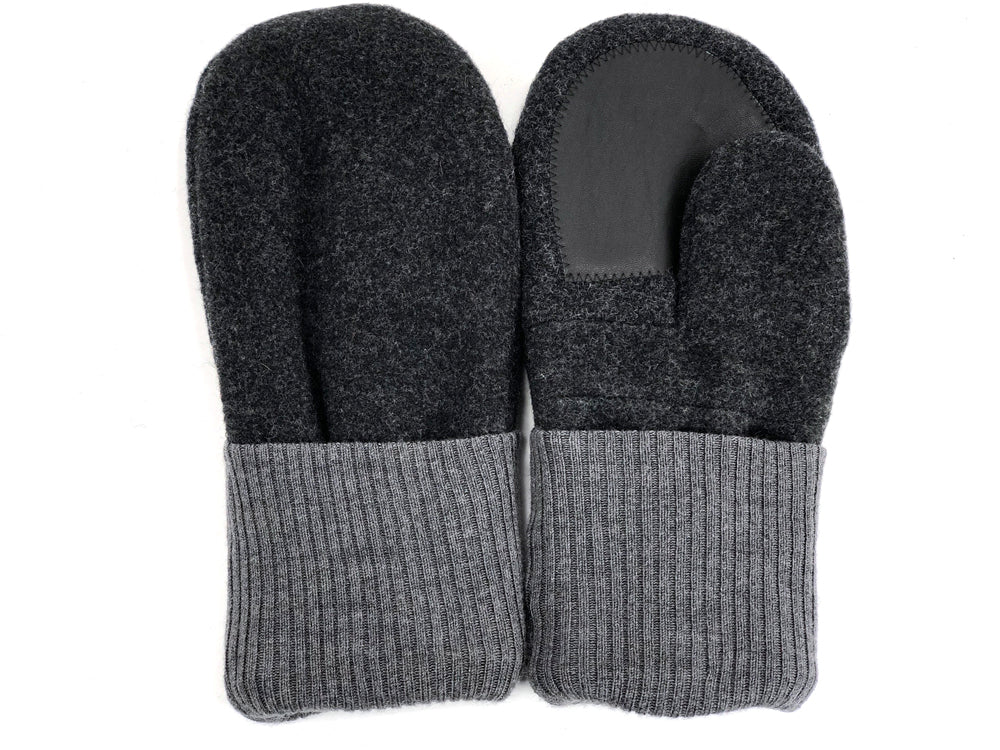 Gray Men's Wool Driver's Mittens - Large - 1982