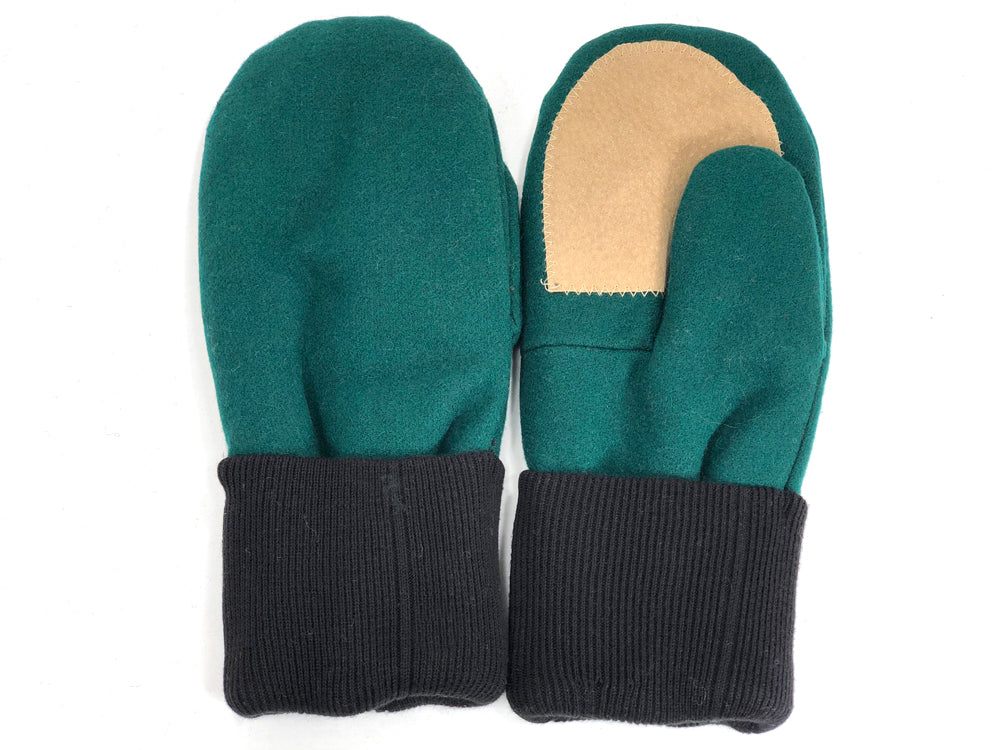 Green-Black Men's Wool Driver's Mittens - Large - 1984