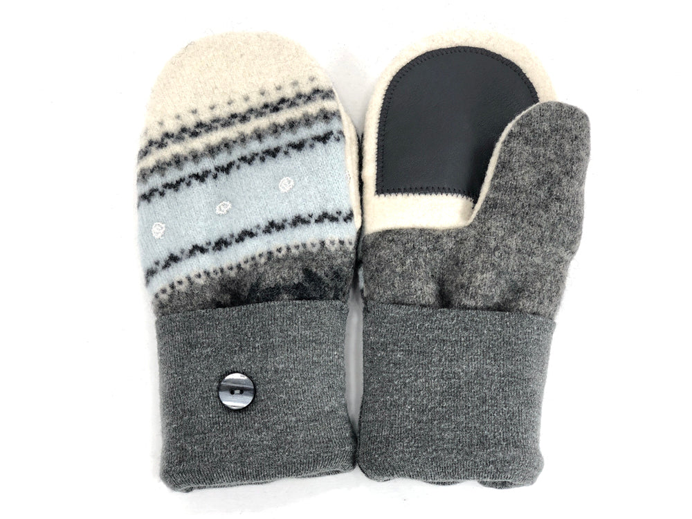 Blue-Gray-White Merino Wool Women's Driver's Mittens - Medium - 1999 - The Mitten Company