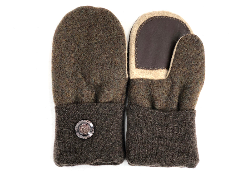 Brown-Tan Merino Wool Women's Driver's Mittens - Medium - 2002-Womens-The Mitten Company