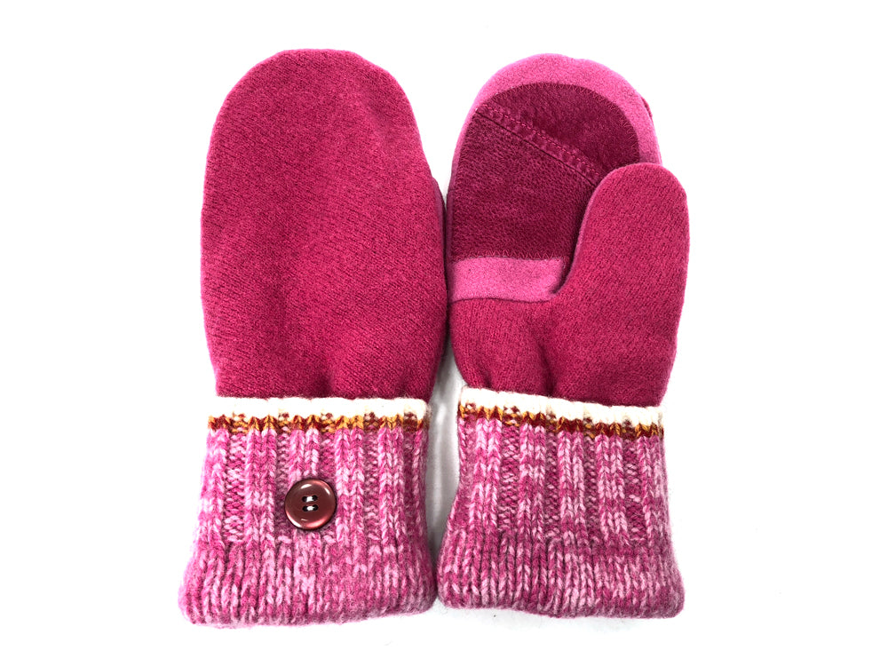 Pink Lambs Wool Women's Drivers Mittens - Large - 2022