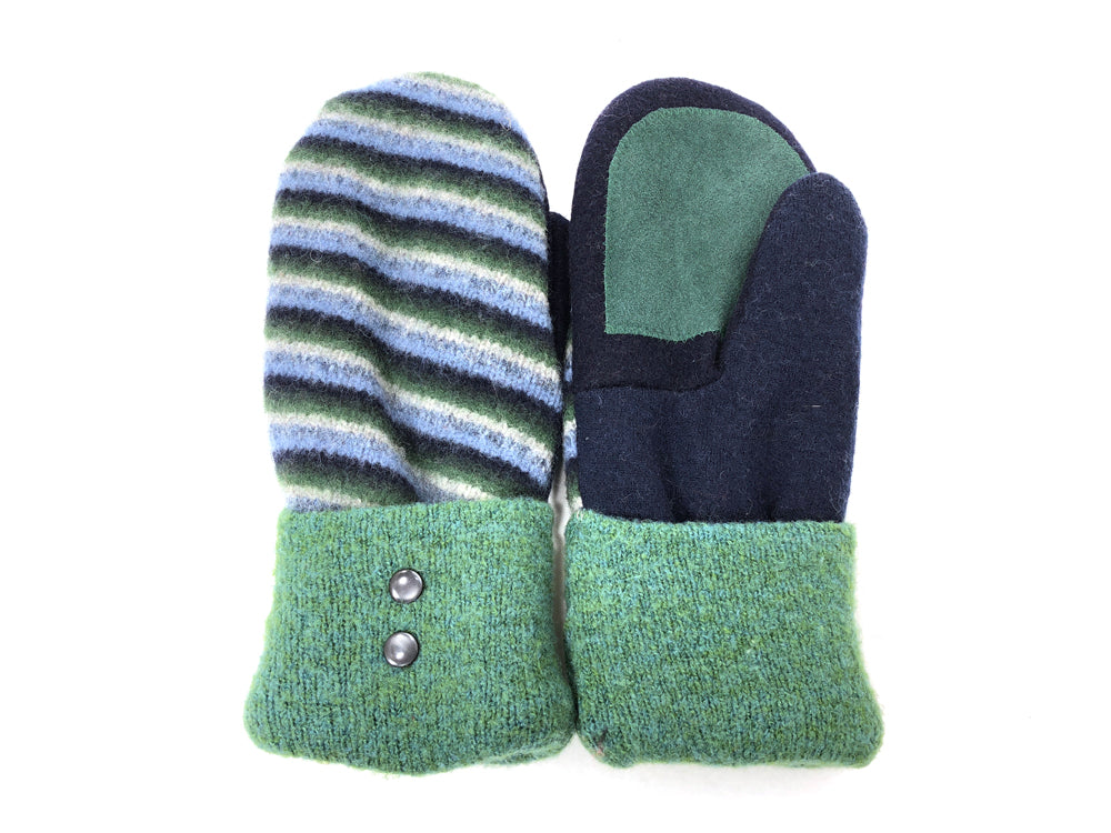 Green-Blue Lambs Wool Women's Drivers Mittens - Large - 2025