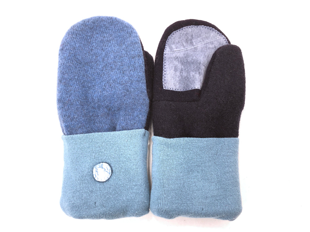 Blue Merino Wool Women's Driver's Mittens - Medium - 2040 - The Mitten Company