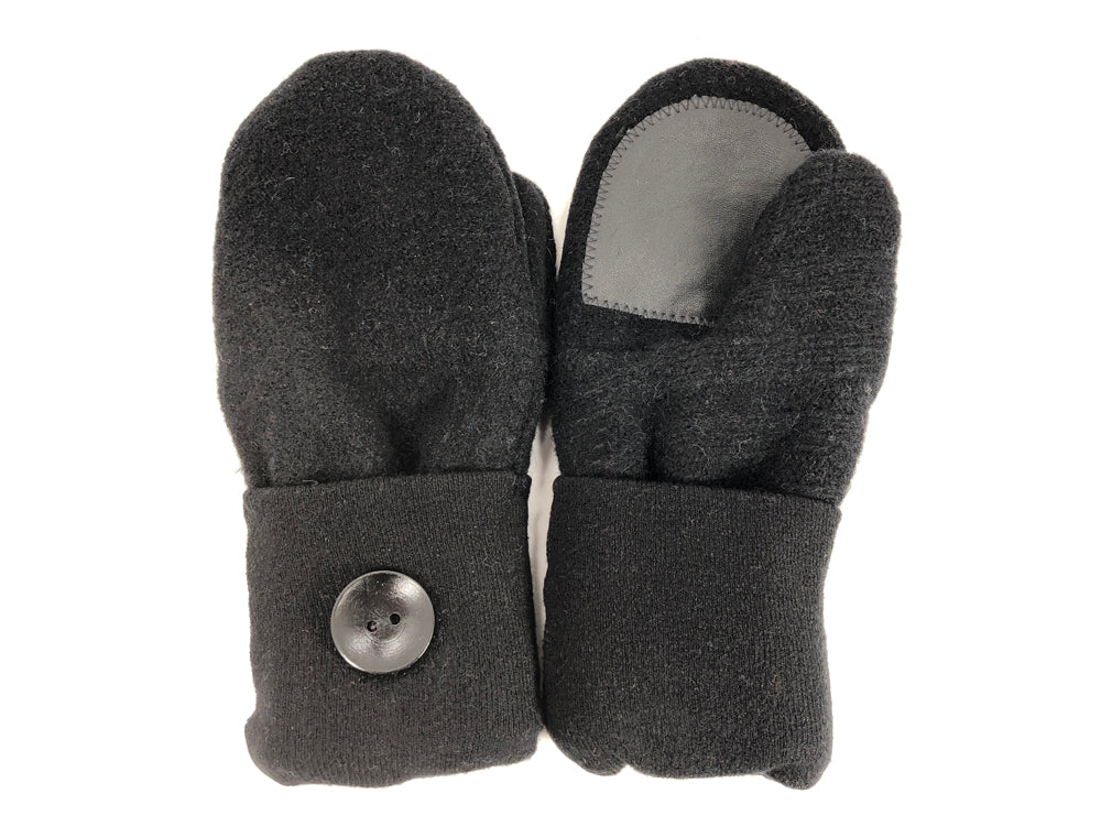 Black Merino Wool Women's Driver's Mittens - Medium - 2043 - The Mitten Company