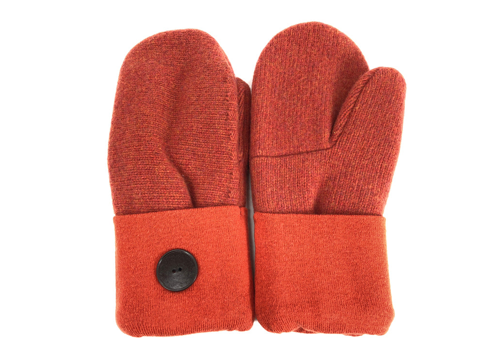 Orange Merino Wool Women's Mittens - Medium - 2045