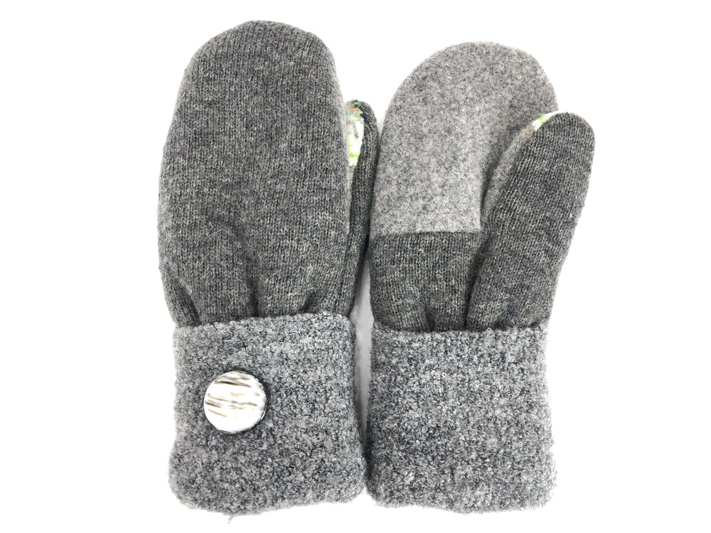 Gray Merino Wool Women's Mittens - Medium - 2049