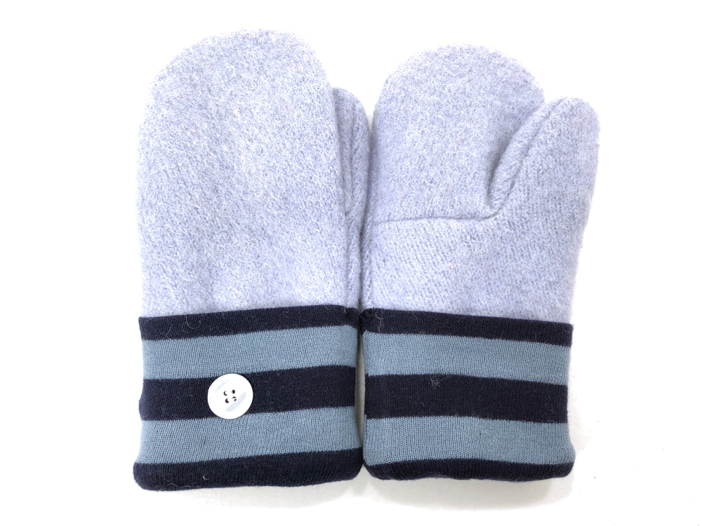Blue Boiled Wool Women's Mittens - Medium - 2057-Womens-The Mitten Company