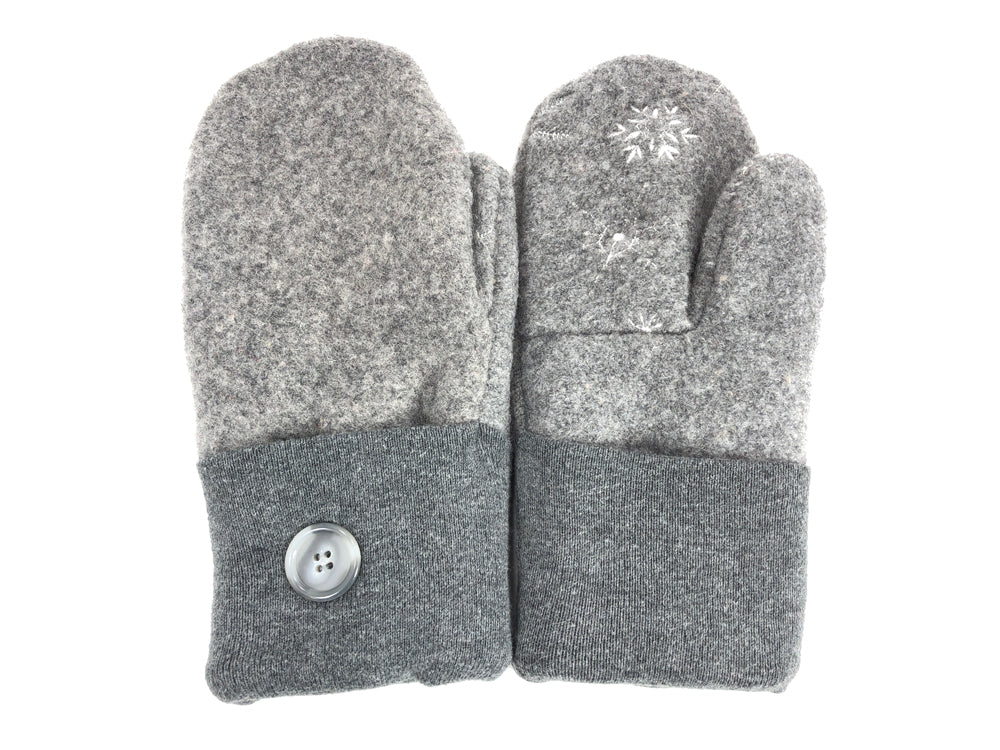 Gray Boiled Wool Women's Mittens - Medium - 2064