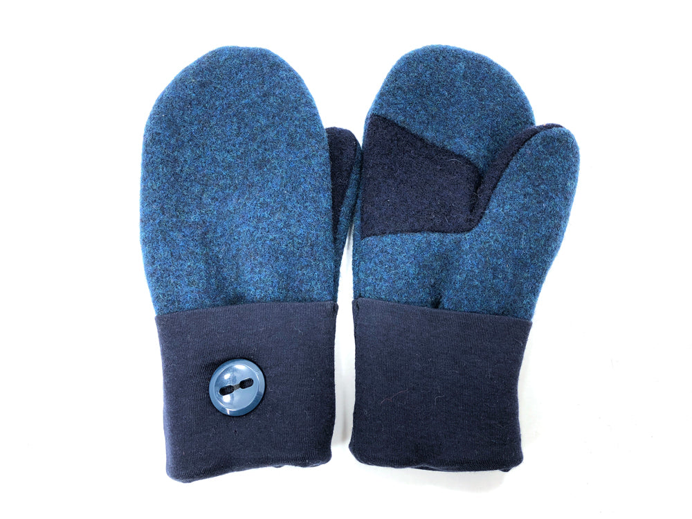Blue Lambs Wool Women's Mittens - Medium - 2067 - The Mitten Company