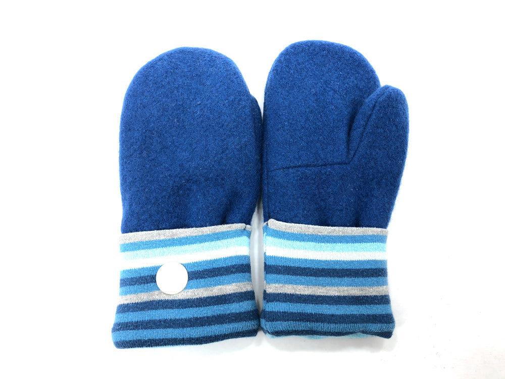 Blue Lambs Wool Women's Mittens - Medium - 2069-Womens-The Mitten Company