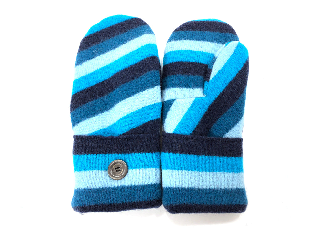 Blue Lambs Wool Women's Mittens - Medium - 2070 - The Mitten Company