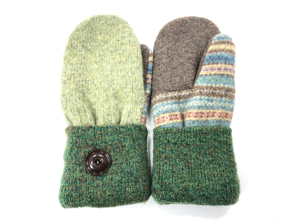 Green Lambs Wool Women's Mittens - Medium - 2072