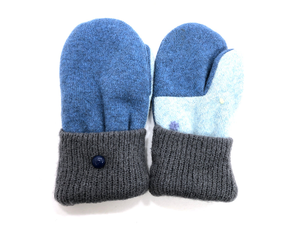 Blue-Gray Lambs Wool Women's Mittens - Medium - 2080 - The Mitten Company