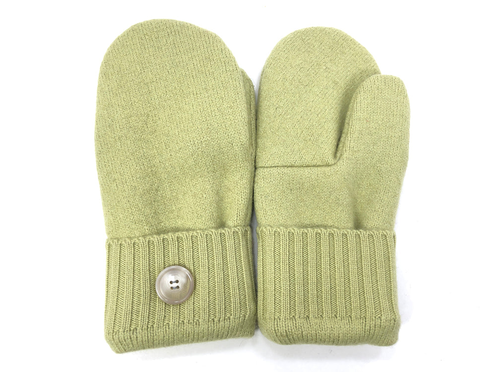 Green Lambs Wool Women's Mittens - Medium - 2083