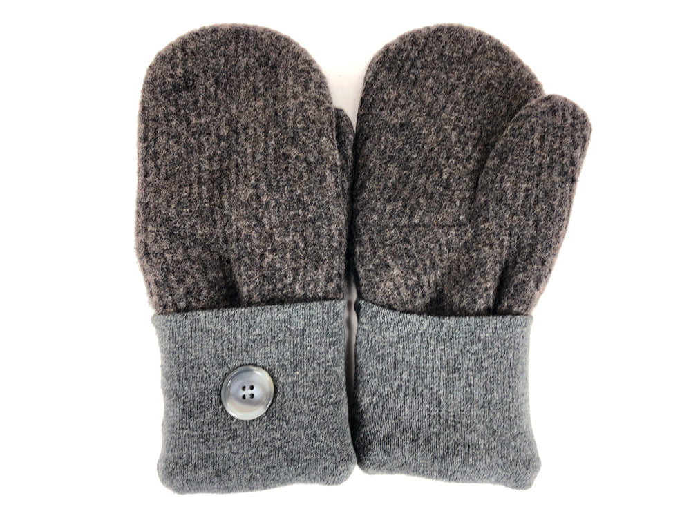 Gray-Brown Shetland Wool Women's Mittens - Medium - 2092