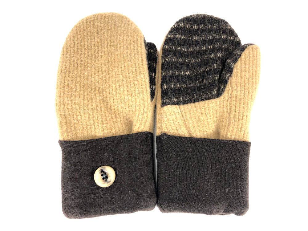Brown-Tan Shetland Wool Women's Mittens - Medium - 2108