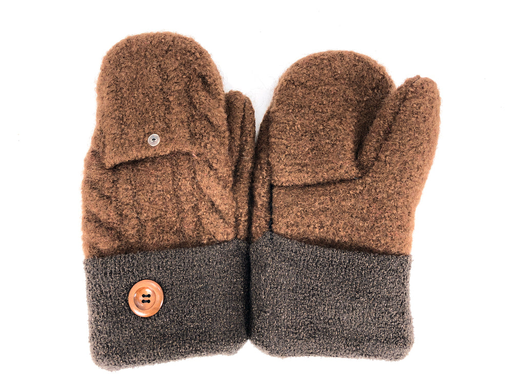 Brown Boiled Wool Women's Mittens - Medium - 2121 - The Mitten Company