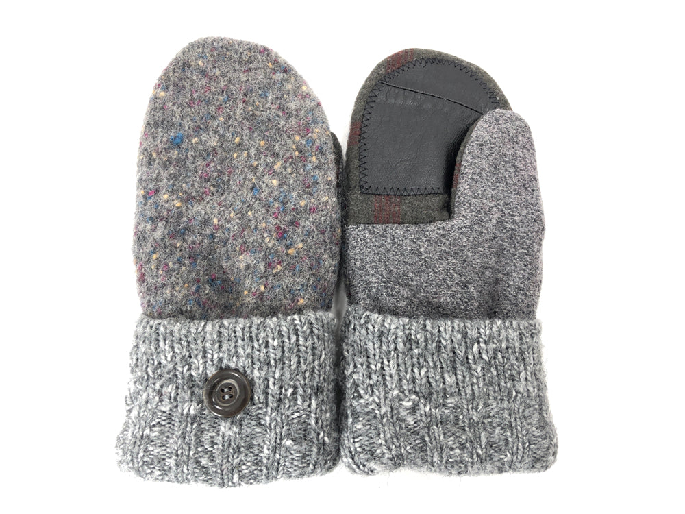 Gray-Brown Shetland Wool Women's Drivers Mittens - Medium - 2153