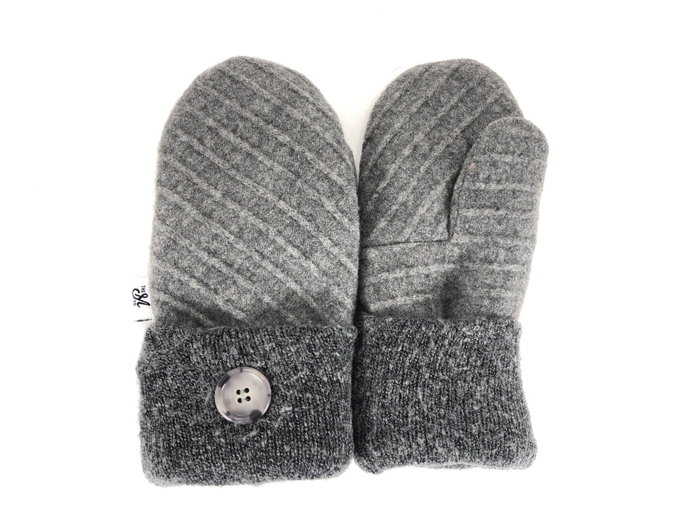 Gray Women's Lambs Wool Mittens - Medium - 2194