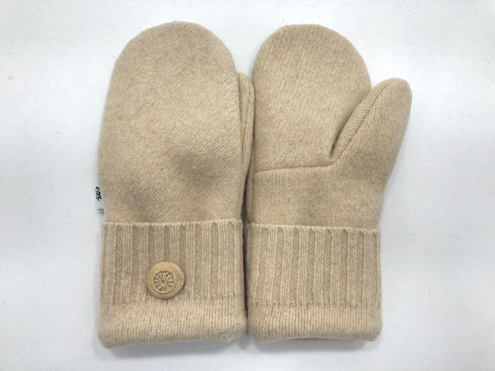 Beige Women's Lambs Wool Mittens - Medium - 2199