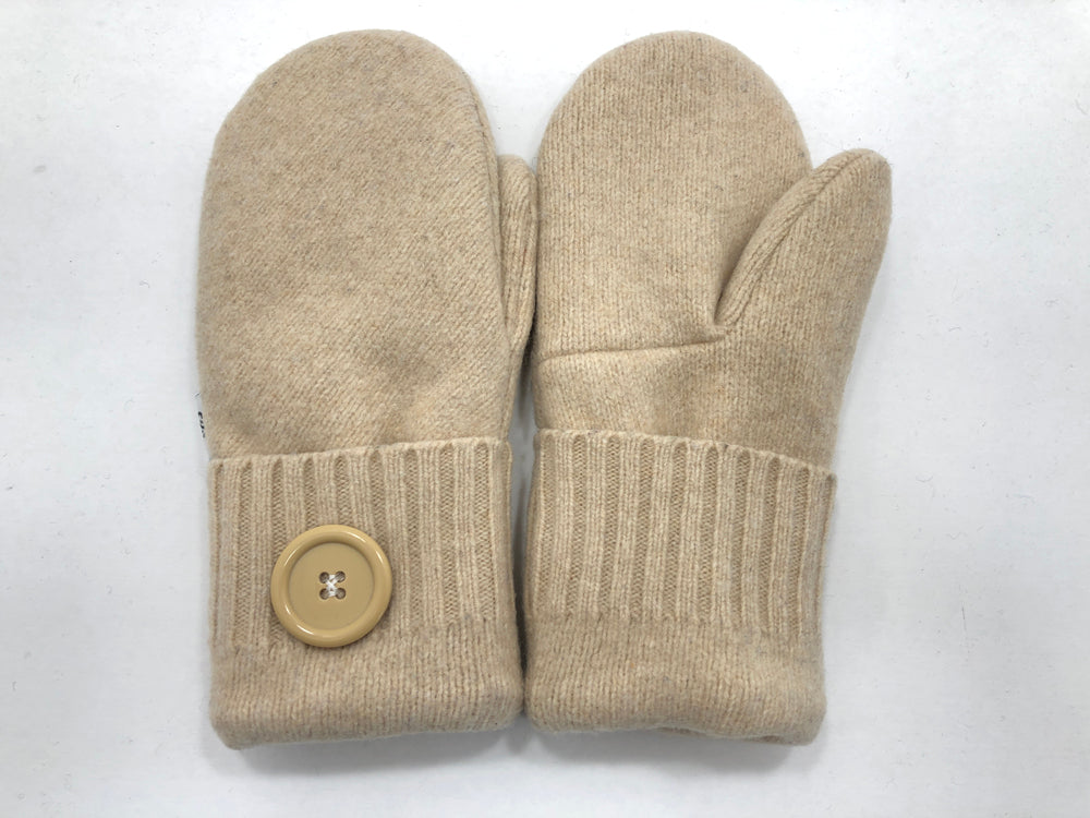 Beige Women's Lambs Wool Mittens - Medium - 2200