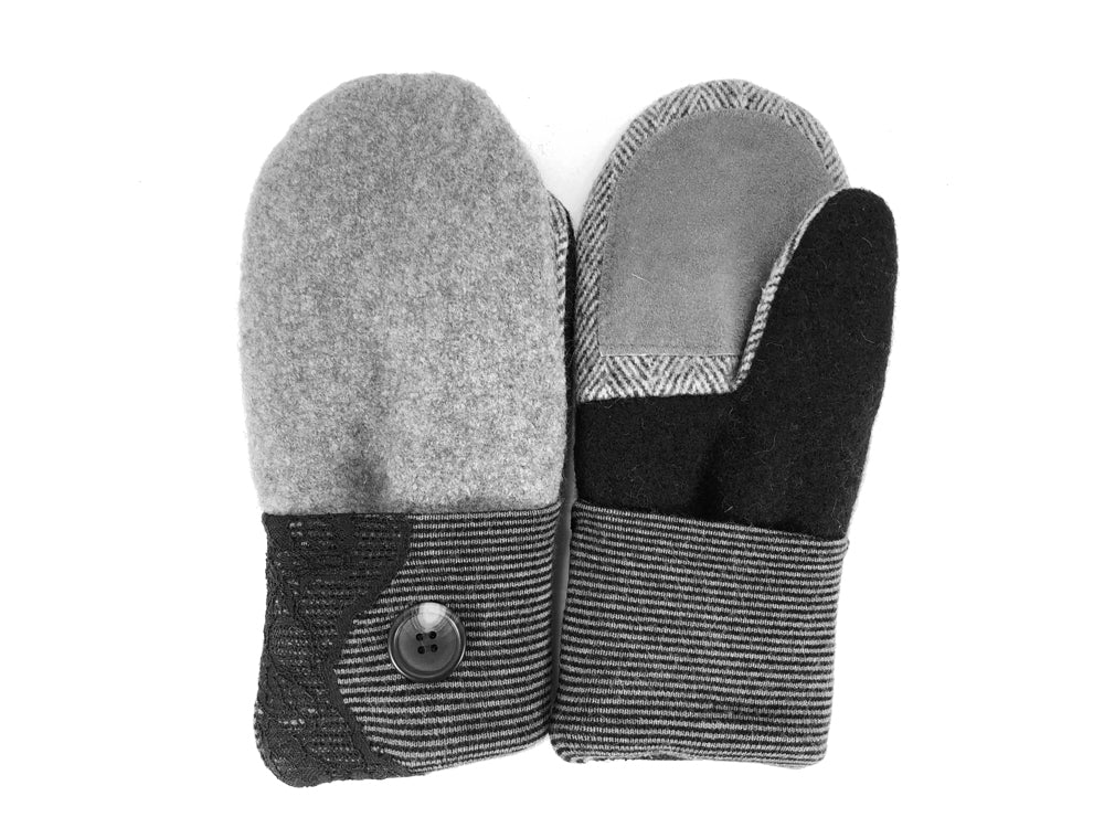 Gray-Black Merino Wool Women's Driver's Mittens - Medium - 2216-Womens-The Mitten Company
