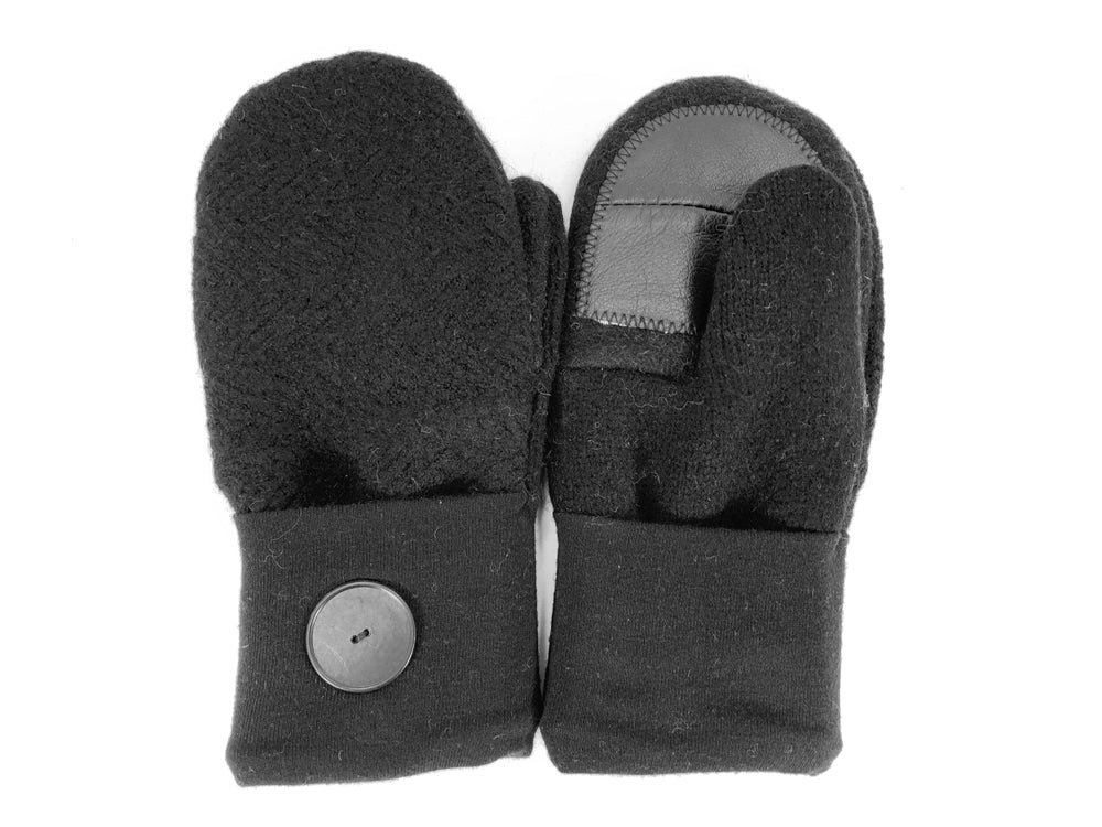Black Merino Wool Women's Driver's Mittens - Medium - 2217-Womens-The Mitten Company