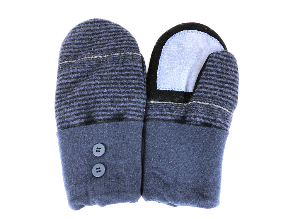 Blue-Black Merino Wool Women's Driver's Mittens - Medium - 2224-Womens-The Mitten Company