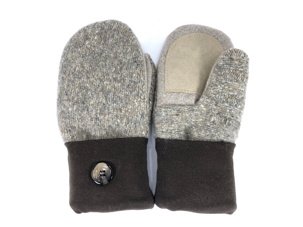 Tan-Brown Lambs Wool Women's Drivers Mittens - Medium - 2233