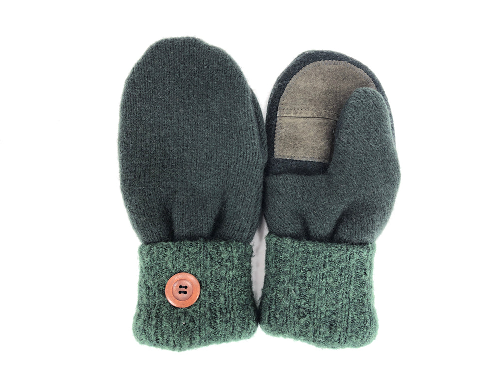 Green Lambs Wool Women's Drivers Mittens - Medium - 2240