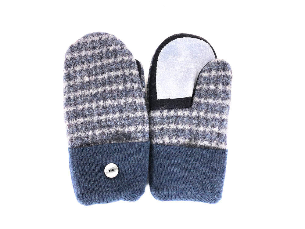 Blue-Gray Shetland Wool Women's Drivers Mittens - Medium - 2251-Womens-The Mitten Company