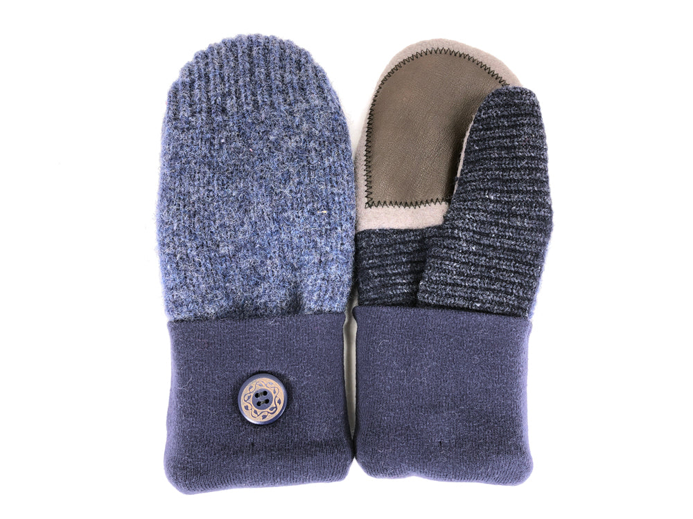 Blue-Gray Shetland Wool Women's Drivers Mittens - Medium - 2253-Womens-The Mitten Company