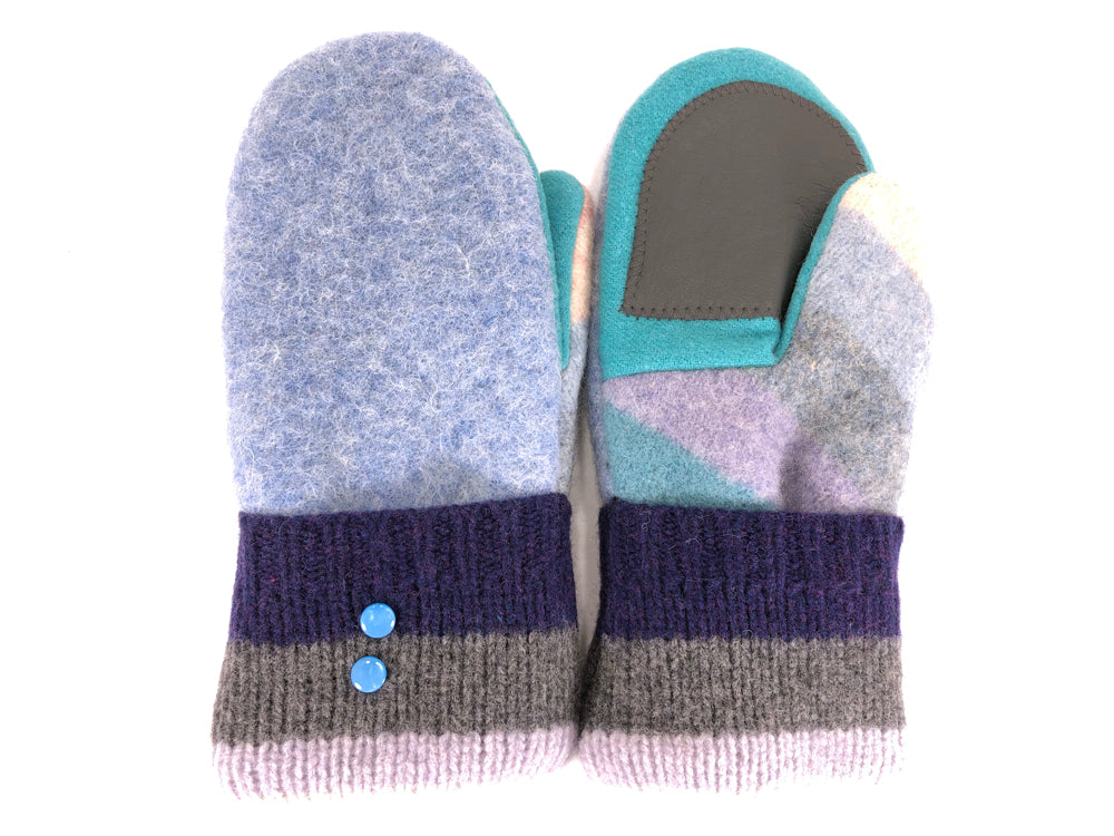 Copy of Blue-Purple-Gray Shetland Wool Women's Drivers Mittens - Medium - 2254-Womens-The Mitten Company
