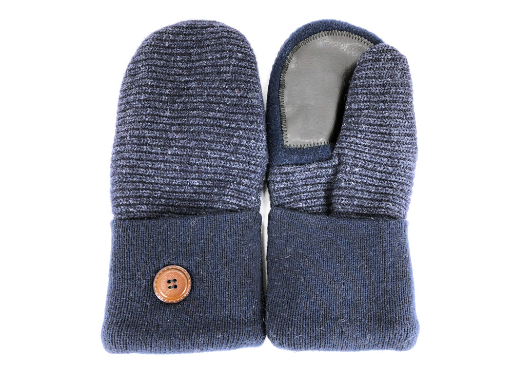 Blue Shetland Wool Women's Drivers Mittens - Medium - 2255-Womens-The Mitten Company