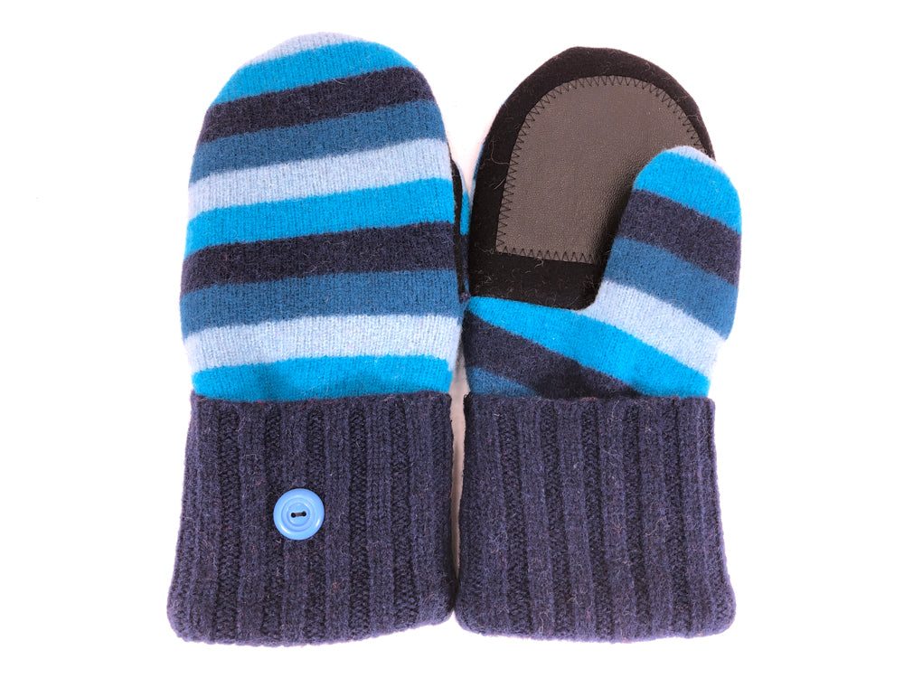 Blue Lambs Wool Women's Drivers Mittens - Medium - 2265