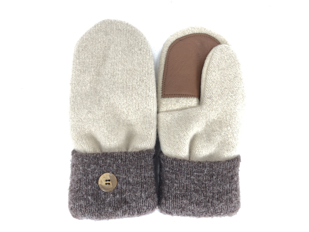 Brown-Tan Shetland Wool Women's Drivers Mittens - Medium - 2275