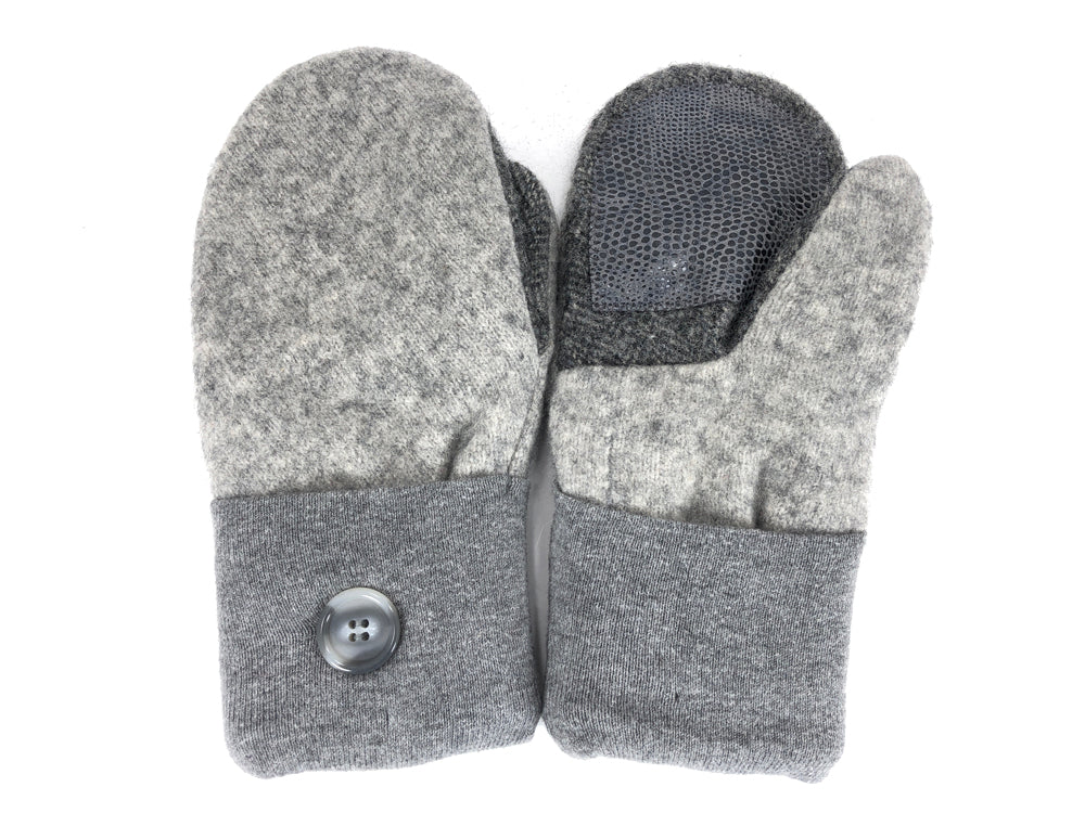 Gray Shetland Wool Women's Drivers Mittens - Medium - 2284