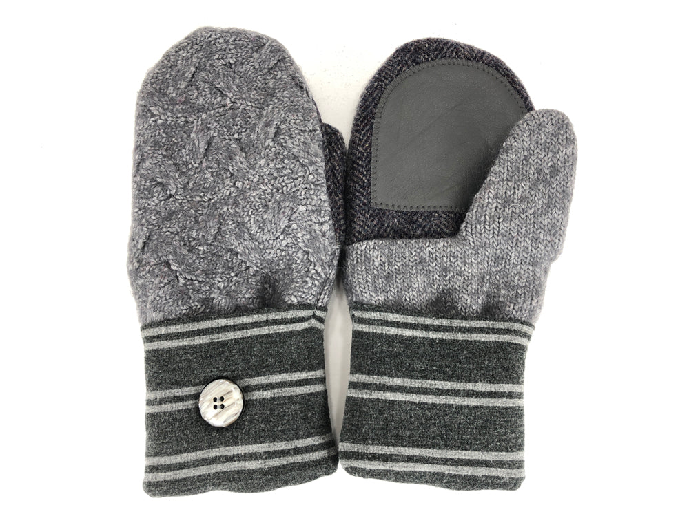 Gray Shetland Wool Women's Drivers Mittens - Medium - 2285