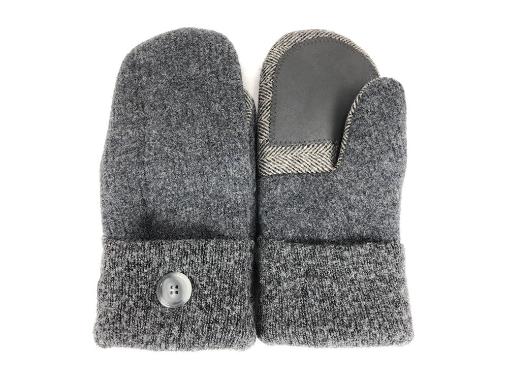 Gray Boiled Wool Women's Drivers Mittens - Large - 2288
