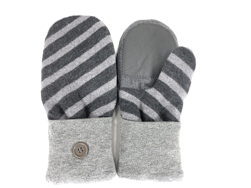 Gray Lambs Wool Women's Drivers Mittens - Large - 2297