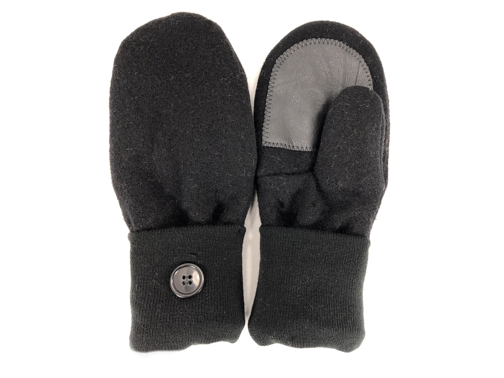Black Lambs Wool Women's Drivers Mittens - Large - 2300