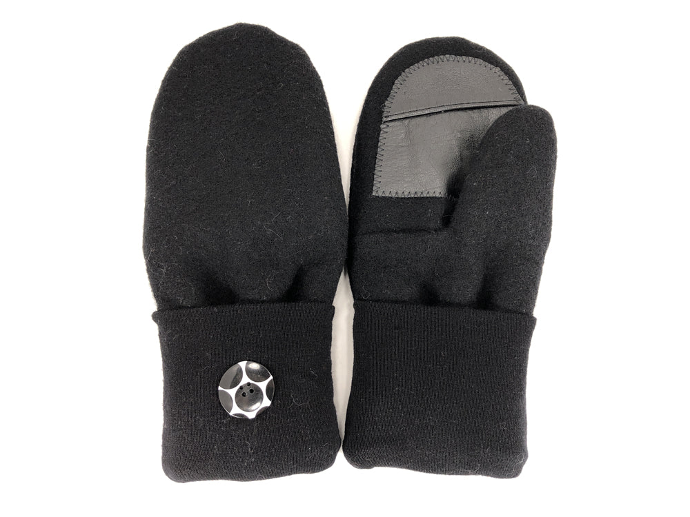 Black Lambs Wool Women's Drivers Mittens - Large - 2301
