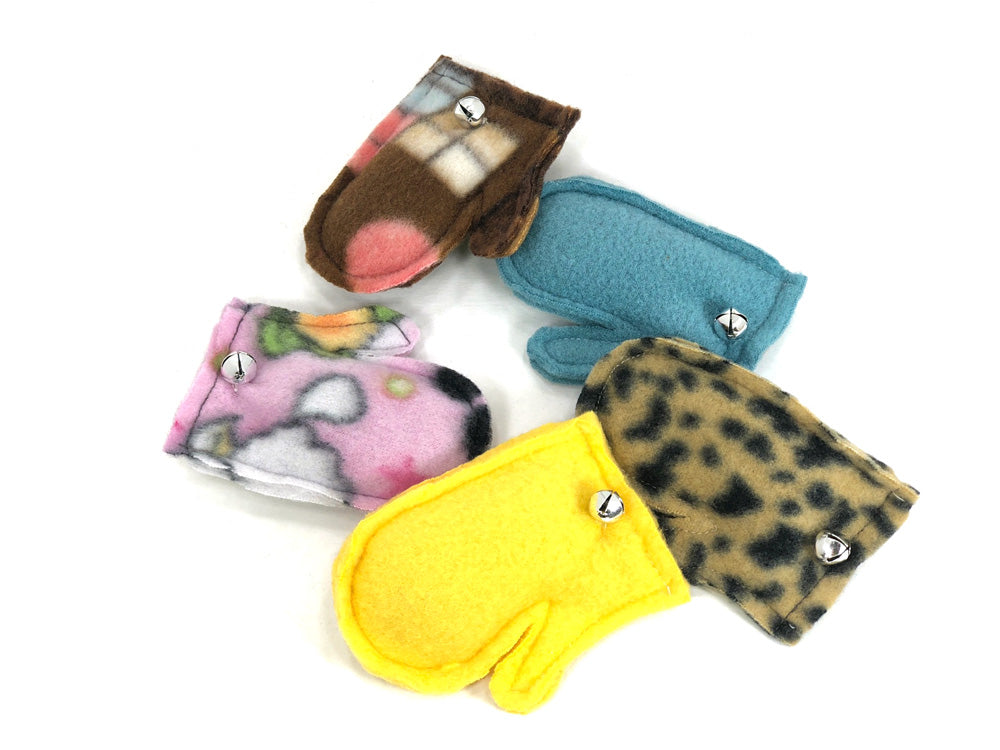 Organic Catnip Mini Mitten Cat Toys (5-pack)-The Mitten Company
