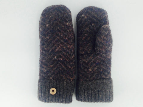 Brown Shetland Wool Mittens - Medium- 1651 * Reserved Custom For Charity****