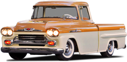 1958-1959 Chevrolet/GMC Short Fleetside Drilled BedWood®